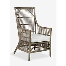 Product Image - Winston Rattan High Back Arm Chair - Grey