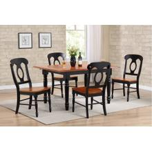 DLU-TLB3660-C50-BCH5PC  5 Piece Butterfly Leaf Dining Set  Napoleon Chairs