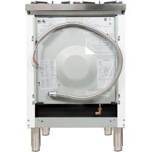 24 Inch White Dual Fuel Liquid Propane Freestanding Range