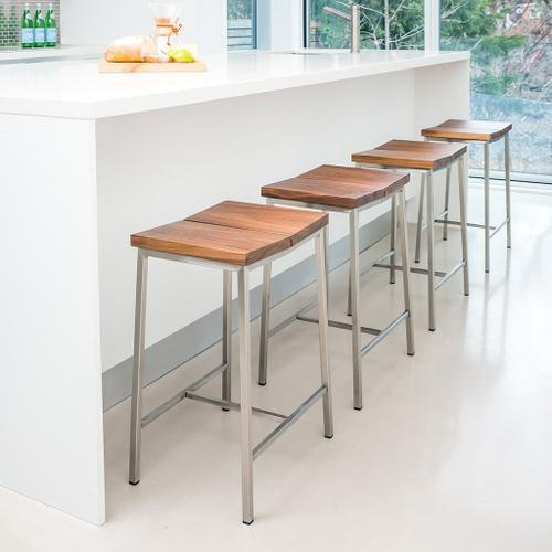 Product Image - Stanley Stool Natural Ash / Stainless Steel