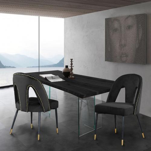 "Akoya Velvet Dining Chair - 21.5"" W x 21"" D x 35"" H"