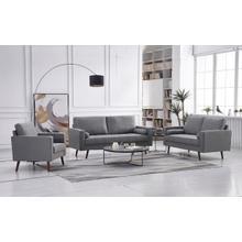 See Details - 8113 3PC LIGHT GRAY Linen Stationary Living Room SET