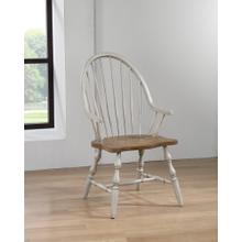 Windsor Dining Chair with Arms - Distressed Gray & Brown