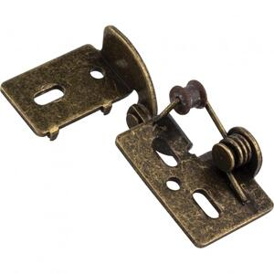"""Self-Closing Non-Wrap Steel Knife Hinge Antique Brass 3/8"""" Inset Product Image"""