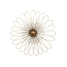 """Product Image - Gold Metal Daisy Wall Flower Wb 19.5"""""""