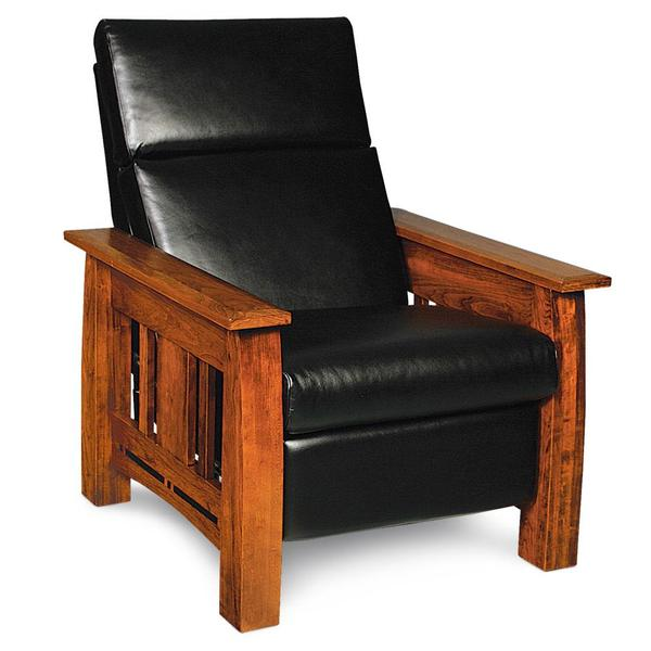 See Details - Aspen Recliner with Inlay, Standard / Fabric Cushions