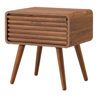 Wilson KD Slat Side Table, Walnut (ASSEMBLY REQUIRED)