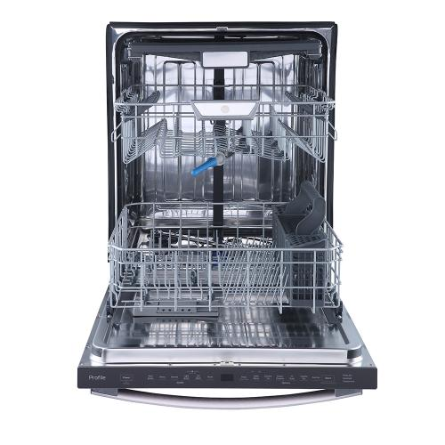 """GE Profile 24"""" Built-In Top Control Dishwasher with Stainless Steel Tall Tub Slate - PBT865SMPES"""