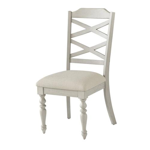Gallery - Larson Light 2-Pack Upholstered Side Chair, Distressed White