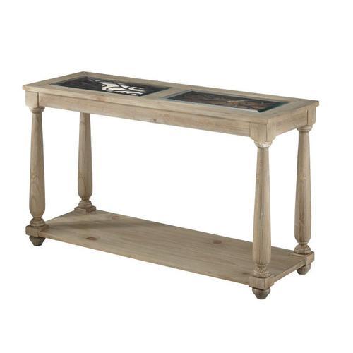 Standard Furniture - Savannah Glass Sofa Table, Brown