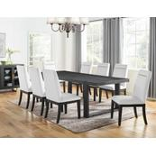 Yves 5 Piece Dining Set (Table & 4 White Performance Side Chairs)