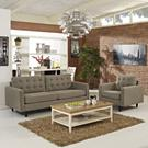 Empress Armchair and Sofa Set of 2 in Oatmeal Product Image