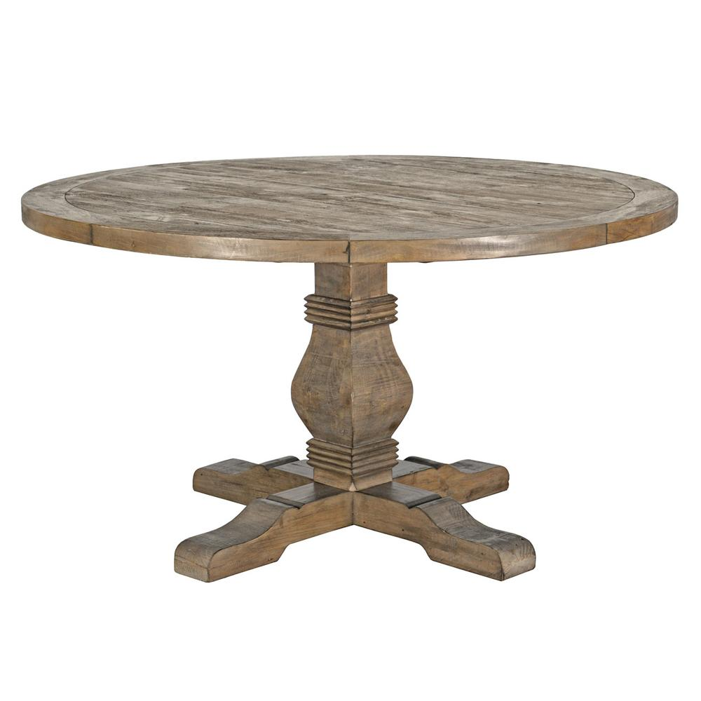See Details - Caleb 55\u0022 Round Dining Table Desert Gray