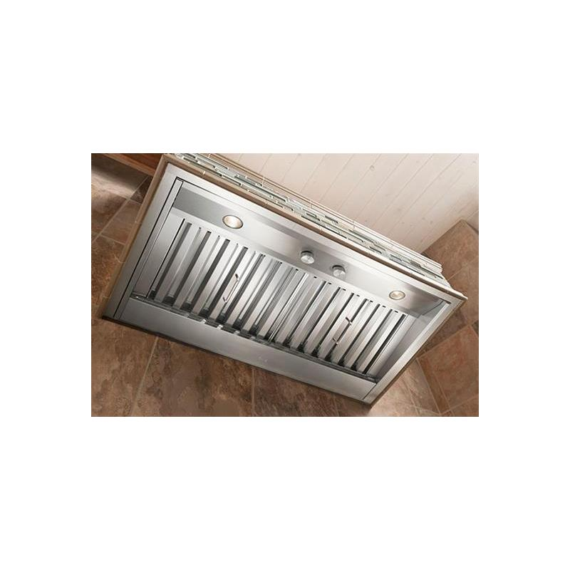 """34-3/8"""" Custom Hood Liner Insert designed for outdoor cooking in covered lanais 1250 Max CFM"""