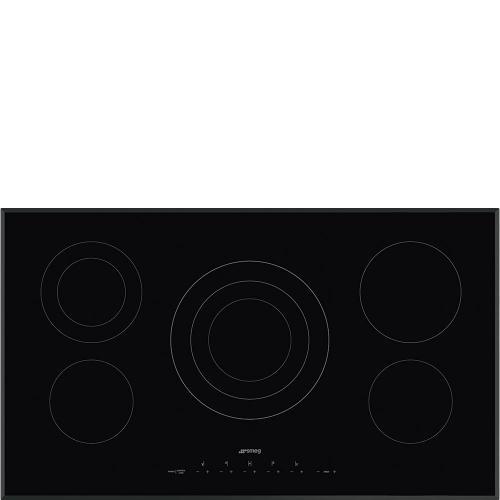 "90CM (36"") Ceramic Cooktop Black Glass, Beveled"