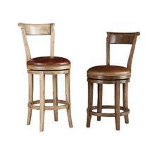 See Details - Hartford Upholstered Swivel Barstool