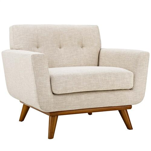 Engage Upholstered Fabric Armchair in Beige