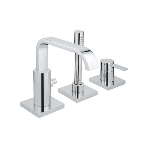 Allure 3-hole Single-handle Deck Mount Roman Tub Faucet With Hand Shower
