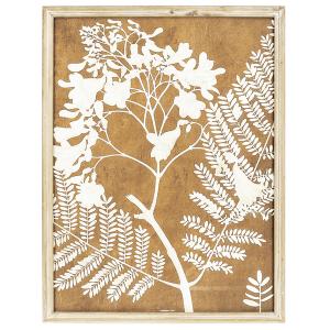 Sepia Tone Botanical Silouette Framed Wall Decor (2 pc. ppk.)