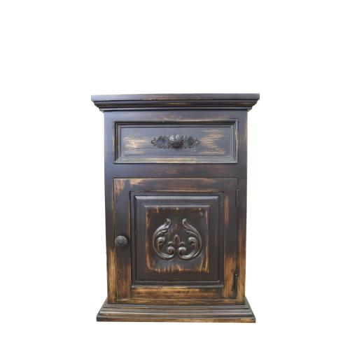 L.M.T. Rustic and Western Imports - Right Carved Nightstand DISCONTINUED