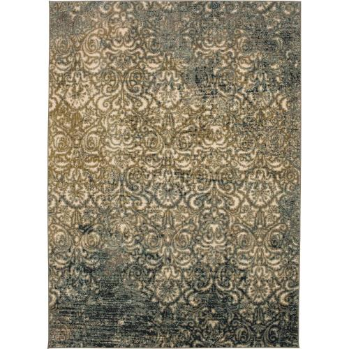 "Touchstone Melrose Blue Teal 3' 6""x5' 6"""