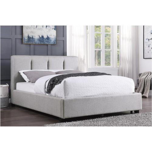 Queen Platform Bed with Storage Drawer