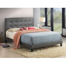 Hndi King Platform Bed Adj Hb Grey