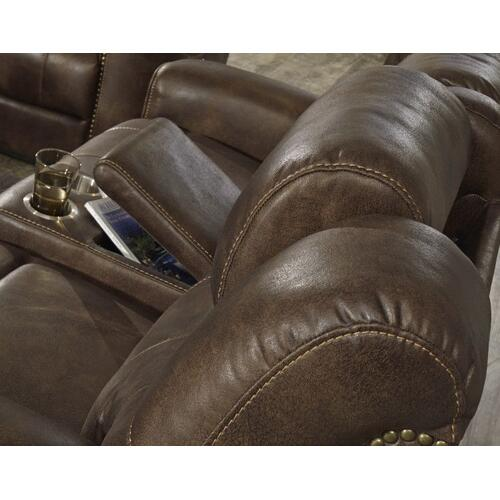 Kobe Power Motion Reclining Loveseat, Brown