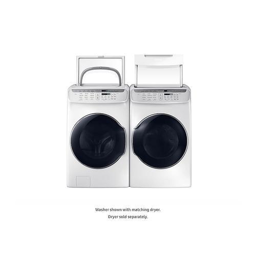 Samsung - 5.5 cu. ft. Smart Washer with FlexWash™ in White