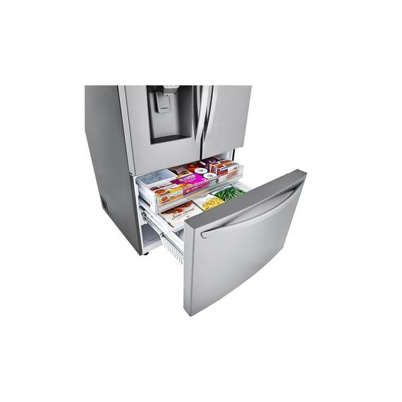 LG - 24 cu. ft. Smart wi-fi Enabled Counter-Depth Refrigerator with Craft Ice™ Maker