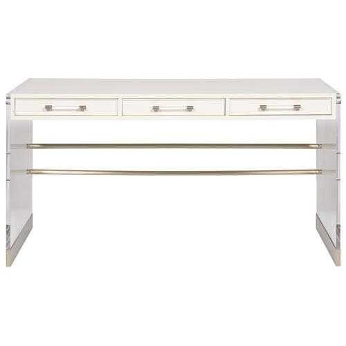 Berkley Desk with Acrylic & Metal Base HH05
