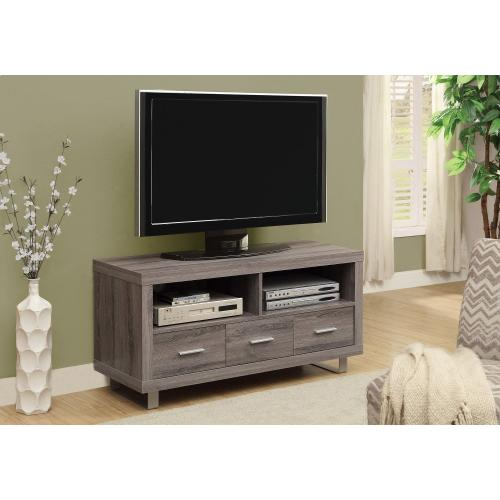 """Gallery - TV STAND - 48"""" L / DARK TAUPE WITH 3 DRAWERS"""