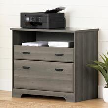 Versa - 2-Drawer File Cabinet, Gray Maple