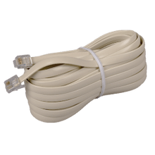 See Details - 25 Foot Phone Line Cords with Connectors in Ivory Color