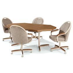 Table Base: Twin Legs (chestnut & sand)