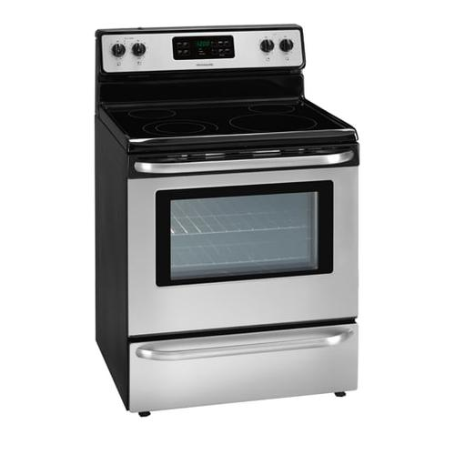 Frigidaire - REFURBISHED Frigidaire 30'' Freestanding Electric Range. (This is a Stock Photo, actual unit (s) appearance may contain cosmetic blemishes.  Please call store if you would like actual pictures).  This unit carries our 6 month warranty, MANUFACTURER WARRANTY and REBATE NOT VALID with this item. ISI 41044