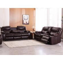 See Details - 8005 BROWN 2PC Breathable Leatherette Power Recline+USB Sofa SET