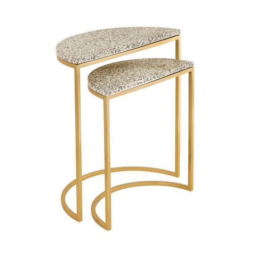 Product Image - Crete White Terrazzo Nesting Tables