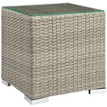 Repose Outdoor Patio Side Table in Light Gray
