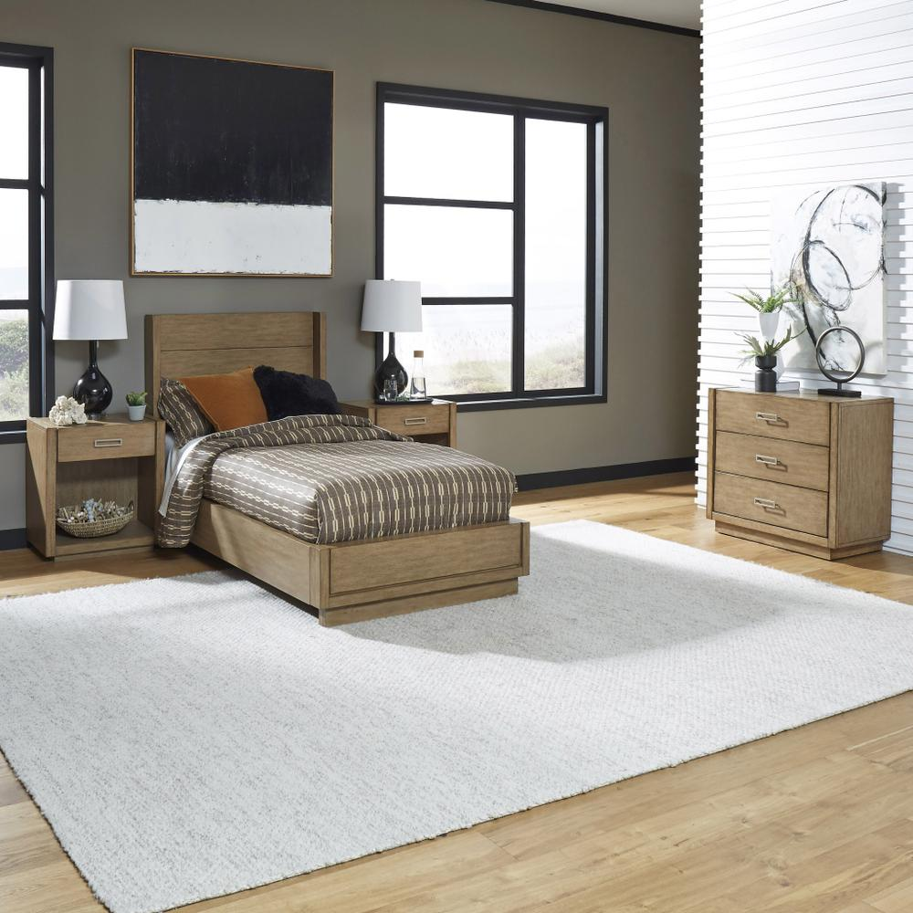 Montecito Twin Bed, Two Nightstands and Chest