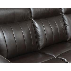 Coachella Dual Power Leather Recliner Sofa - Brown