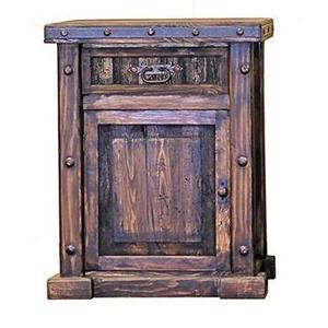 L.M.T. Rustic and Western Imports - Laguna Nightstand (Left)