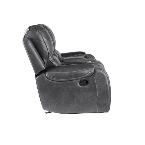 Keily Manual Motion Swivel Glider Recliner Chair, Grey