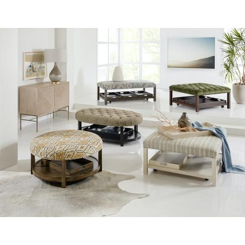 Living Room Hollis Rectangle Non-Tufted Tray Ottoman