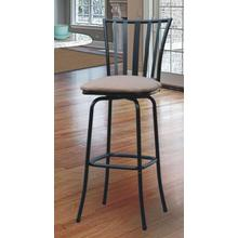 Square Seat Bar/Counter Height Adjustable Metal Bar Stool