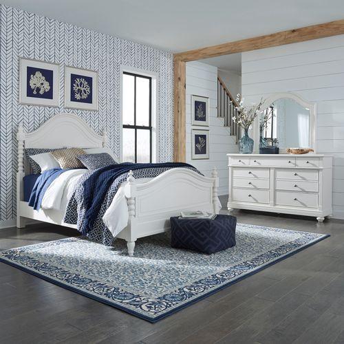 Gallery - Queen Poster Bed, Dresser & Mirror