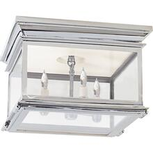 Visual Comfort CHC4129PN-CG E. F. Chapman Club 3 Light 13 inch Polished Nickel Flush Mount Ceiling Light in Clear Glass