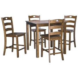 Hazelteen Counter Height Dining Table and Bar Stools (set of 5)