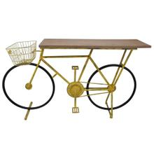 Bicycle Console Table, Yellow