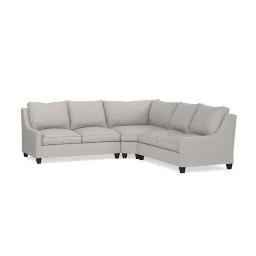 Exeter Small L-Shaped Sectional, Arm Style Track